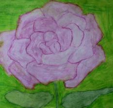 """Róża"", akwarela"