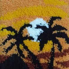 """""""Zachód słońca"""", haft pętelkowy"""
